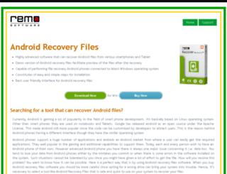 androidrecoveryfiles.com screenshot