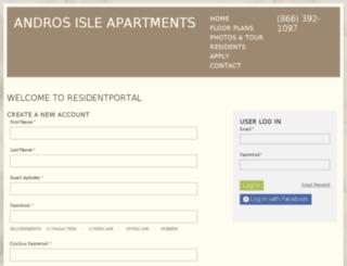 androsisle.residentportal.com screenshot