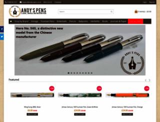 andys-pens.co.uk screenshot