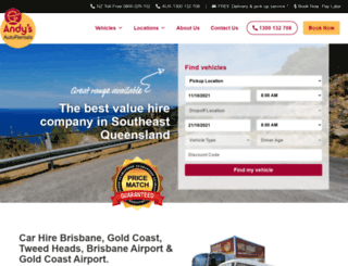 andysautorental.com.au screenshot