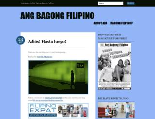 angbagongfilipino.wordpress.com screenshot