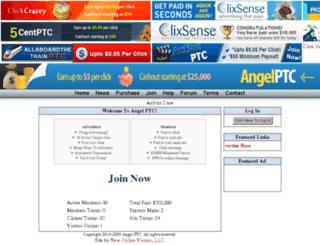 angel-ptc.com screenshot