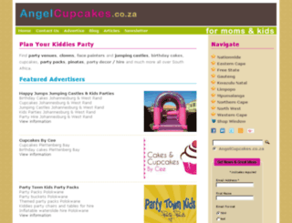 angelcupcakes.co.za screenshot