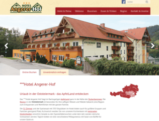 angerer-hof.at screenshot
