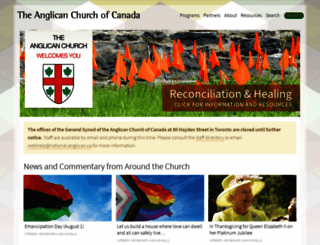 anglican.ca screenshot