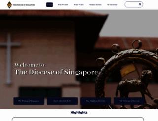 anglican.org.sg screenshot