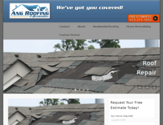 angroofing.com screenshot