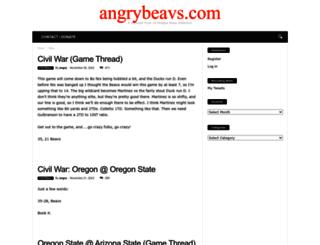 angrybeavs.com screenshot
