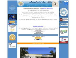 animal-aid.com screenshot