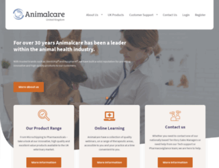 animalcare.co.uk screenshot