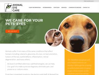 animaleyecare.com screenshot