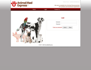 animalmedexpress.org screenshot