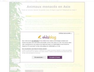 animauxmenacesenasie.eklablog.fr screenshot