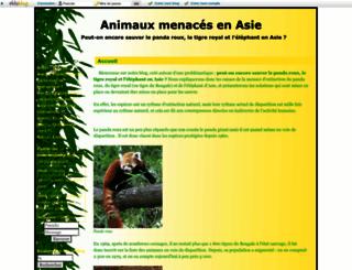 animauxmenacesenasie.eklablog.fr screenshot
