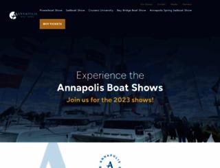 annapolisboatshows.com screenshot