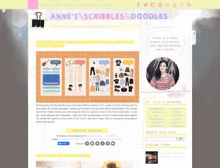 annescribblesanddoodles.blogspot.com screenshot