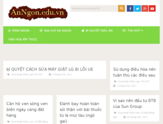 anngon.edu.vn screenshot