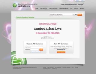 annieearhart.ws screenshot