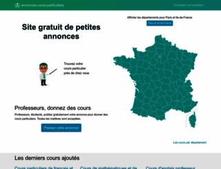 annonces-cours-particuliers.com screenshot