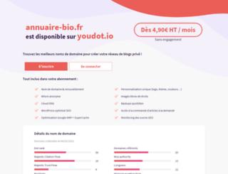 annuaire-bio.fr screenshot