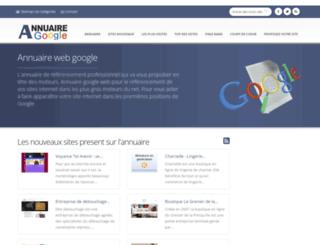 annuaire-google.com screenshot