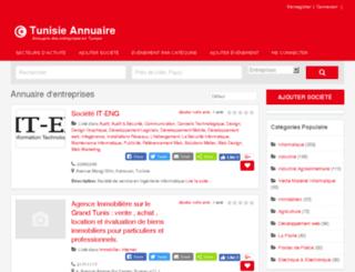 annuairetunisie.tn screenshot