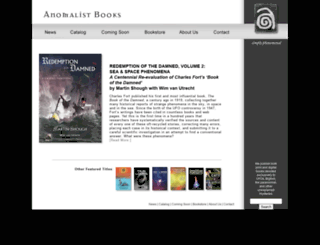 anomalistbooks.com screenshot