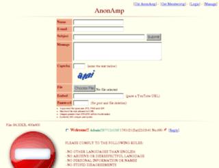 anonamp.net screenshot