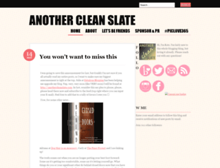anothercleanslate.wordpress.com screenshot