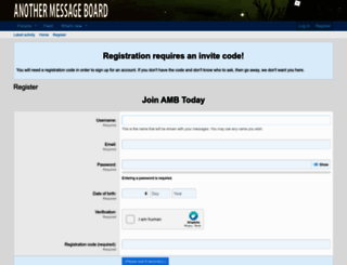 anothermessageboard.com screenshot