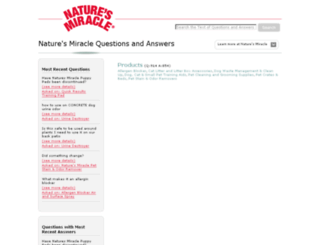 answers.naturemakesitwork.com screenshot