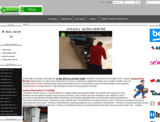antalyaundarklima.com screenshot