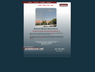 antelecom.net screenshot