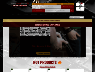 anthonysfirearmwarehouse.com screenshot