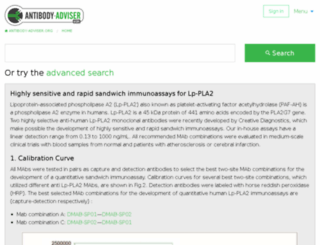 antibody-adviser.com screenshot