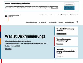 antidiskriminierungsstelle.de screenshot