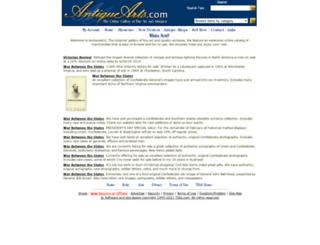antiquearts.com screenshot