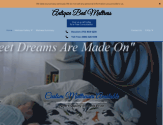 antiquebedmattress.com screenshot