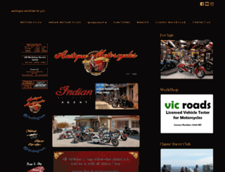 antiquemotorcycle.com.au screenshot