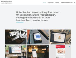 antrikshkumar.com screenshot