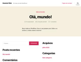 anuncieweb.com.br screenshot