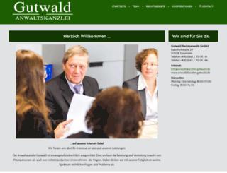 anwaltskanzlei-gutwald.de screenshot