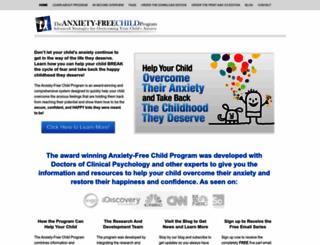 anxietyfreechild.com screenshot
