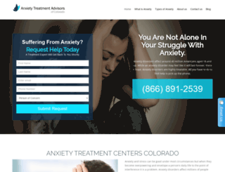 anxietytreatmentadvisorscolorado.com screenshot