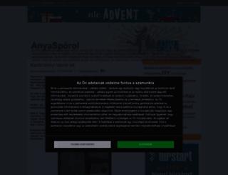 anyasporol.cafeblog.hu screenshot