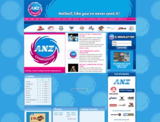 anz-championship.com screenshot