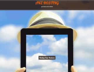 anzhosting.com screenshot