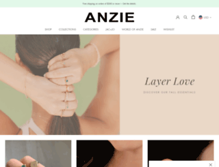 anzie.com screenshot