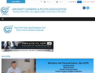aopa.co.uk screenshot