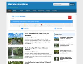 apakabarsidimpuan.com screenshot